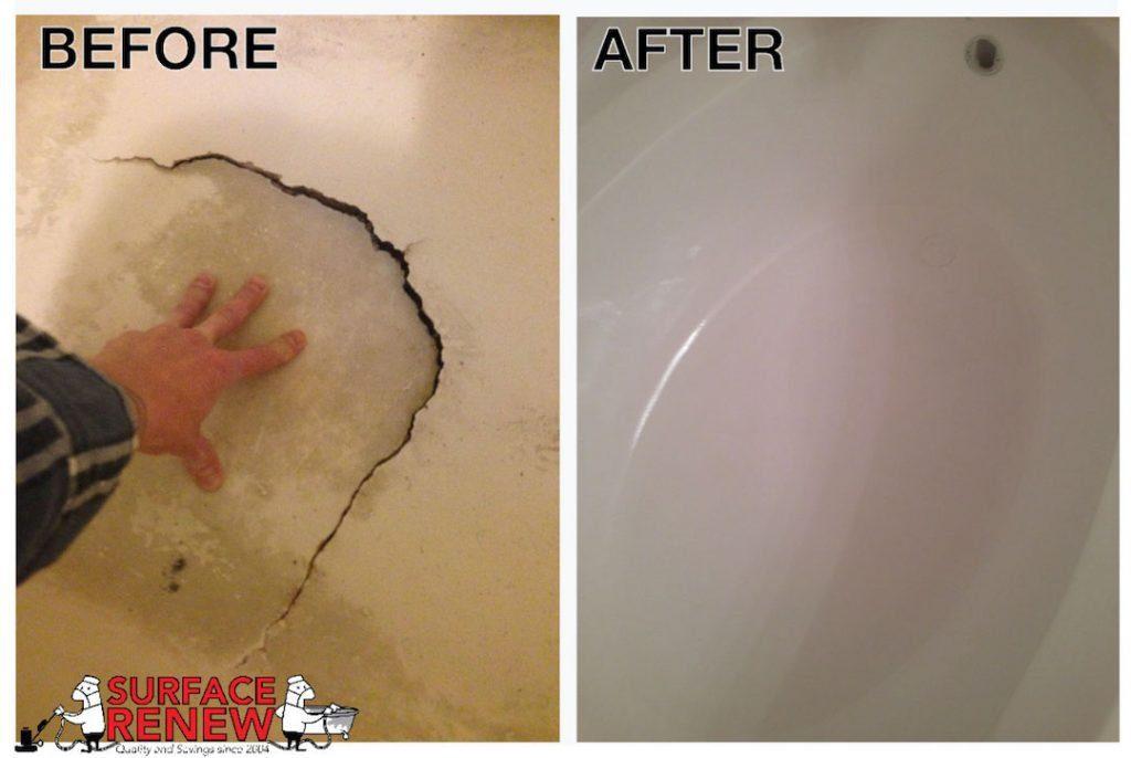 fiberglass tub repair holes chips