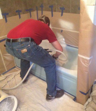 Surface Renew Refinishing Bathtub Blue to White FAQ page.