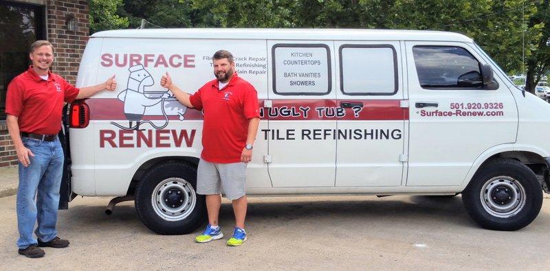 Surface Renew Van with Bob and Ryan in Arkansas