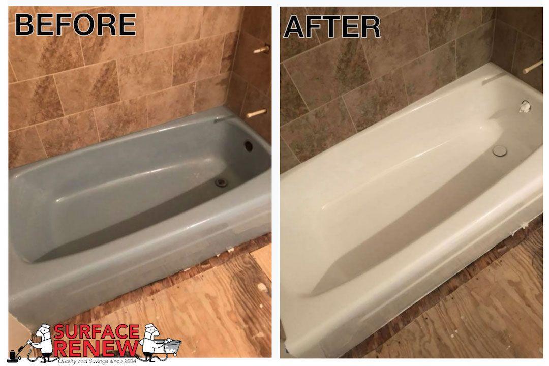 Surface Renew Little Rock bathroom tub refinishing color change service .