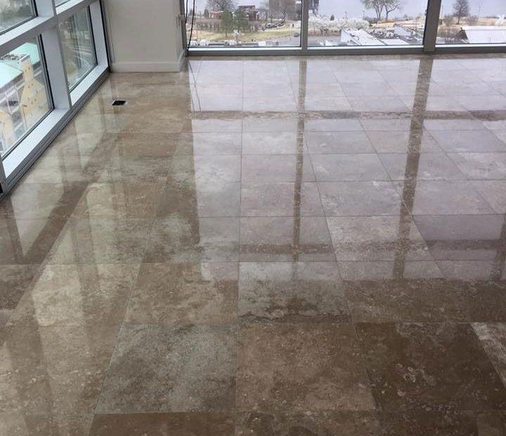 Natural Stone Floor Refinishing Polishing Little Rock AR.