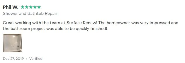 Phil W Thumbtack review of Surface Renew