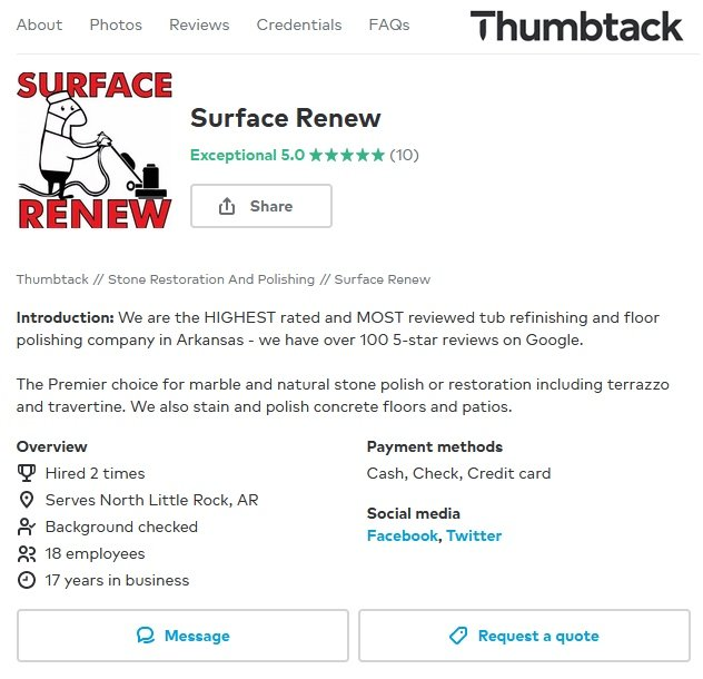 Surface Renew Little Rock Reviews on Thumbtack