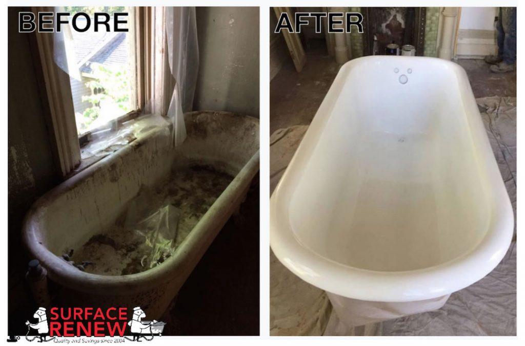 Clawfoot tub refinishing and refurbishing