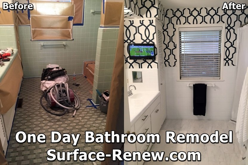 One day bathroom remodel contractor Surface Renew Arkansas