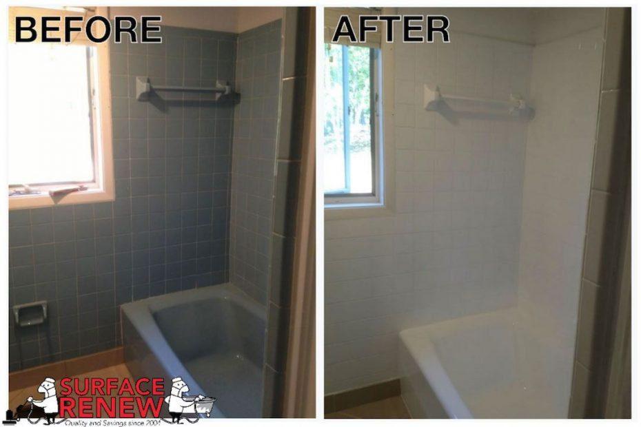 Shower Tile Refinishing Revitalize Old Bathroom